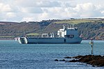 RFA Lyme Bay in Plymouth Sound