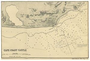 Cape Coast Castle - Map of Cape Coast Castle (1869)