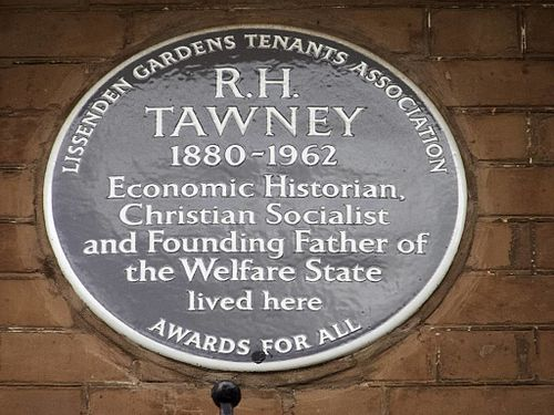 R h tawney plaque in london