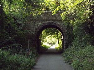Dyserth branch line - Image: Railway Bridge looking in the Prestatyn direction