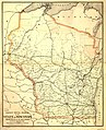 Railway postal diagram of the state of Wisconsin prepared for the use of the Railway Mail Service; W. L. Nicholson, Topographer P.O. Dept. LOC 98688570.jpg