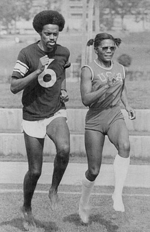 Mamie Rallins - Ralph Boston and Mamie Rallins at the 1972 Olympics