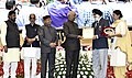 """Ram Nath Kovind presenting the """"Vayoshreshtha Sammans - 2017"""" to eminent senior citizens and institutions in recognition of their service towards the cause of the elderly persons, at a function, in New Delhi.jpg"""