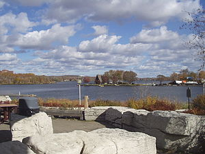 Ramsey Lake - View of Ramsey Lake from Science North Marina towards the Sailing Club.
