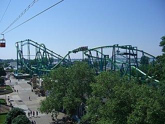 Raptor (Cedar Point) - Raptor as viewed from the Sky Ride