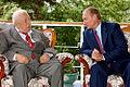 Rasul Gamzatov with Vladimir Putin.jpg