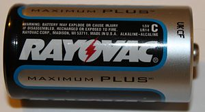 English: Rayovac 1.5 Volt 'C' battery