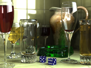Raytraced image of several glass objects.png