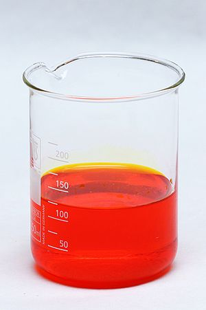 Chromium trioxide - Image: Reaction between potassium dichromate and sulfuric acid (1)