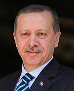 Portret van Recep Tayyip Erdoğan