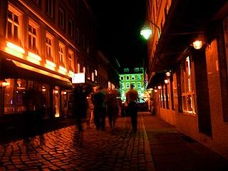 Herbertstraße Street in the St. Pauli district of Hamburg, Germany