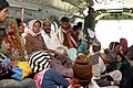 Rescued pilgrims in a chopper during their relief operations by Armed forces, at Gauri Kund, in Kedarnath valley, Uttarakhand.jpg