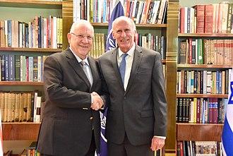 Dan Coats - Coats with Israeli President Reuven Rivlin, September 3, 2017