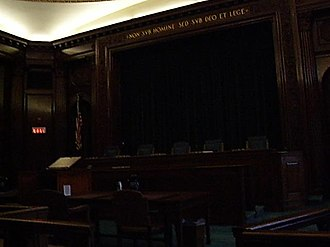 Rhode Island Supreme Court - Image: Rhode Island Supreme Court courtroom interior