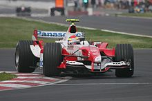 Photo de la Toyota TF105 de Ricardo Zonta