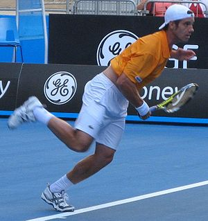 Richard Gasquet - Richard Gasquet in the first round at the 2008 Australian Open.
