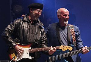 Richard Thompson (musician) - Thompson with Fairport Convention's Dave Pegg at Cropredy, 2005