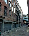 Richmond Mews, Soho (2018), where the back loading entrance to the Marquee Club and the Marquee Studios was located.jpg