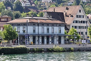 railway station in the town of Richterswil in the Swiss canton of Zürich