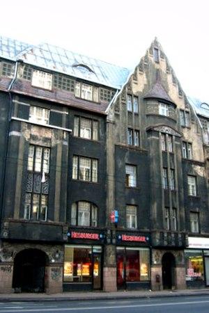Eižens Laube - Image: Riga, Laube Brivibas 62 2