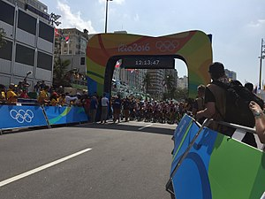 Cycling at the 2016 Summer Olympics – Women's individual road race - The start/finish (The start pictured)