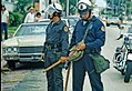Riot police with tear gas canisters at the 1972 Republican National Convention - Miami, Florida.jpg