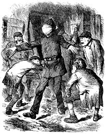 jack the ripper wikipedia Shanghai 1920s Fashion drawing of a blind folded policeman with arms outstretched in the midst of a bunch