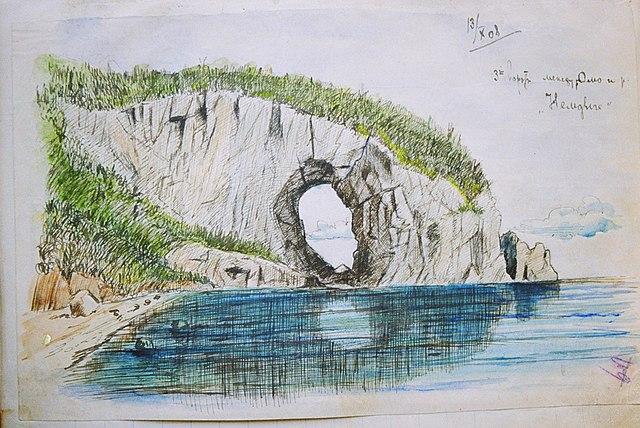 Рисунок В. К. Арсеньева из путевого дневника 1908 года