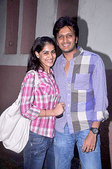 Riteish & Genelia watch 'Bol Bachchan' 05.jpg