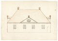 Ritning på envåningsbyggnad - Skoklosters slott - 98991.tif