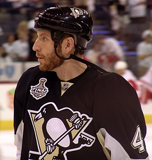 Rob Scuderi - Scuderi with the Penguins, 2009 Stanley Cup Finals game 6, June 2009
