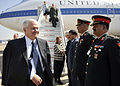 Robert Gates and wife Becky arrive at Palam Air Station in New Delhi.jpg