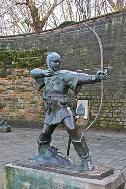 Robin Hood statue, Nottingham Castle 1