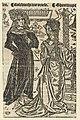 Robrecht I de Fries en Geertruida van Saksen Robbrecht die Vriese. Gheertrude (titel op object), RP-P-OB-1985.jpg