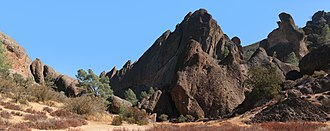 Pinnacles National Park - Rock formations at Pinnacles National Park