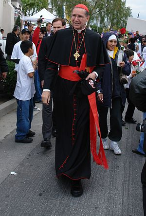 Santi Quattro Coronati - Cardinal Roger Mahony, the current Cardinal-Priest of Santi Quattro Coronati.