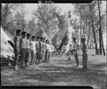 Rohwer Relocation Center, McGehee, Arkansas. A 5-day Boy Scout Camp on the bank of the Mississippi . . . - NARA - 539535.tif