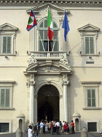 Quirinal Palace - The main entrance with Bernini's balcony and portal
