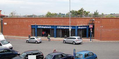 Come arrivare a Eur Magliana con i mezzi pubblici - Informazioni sul luogo