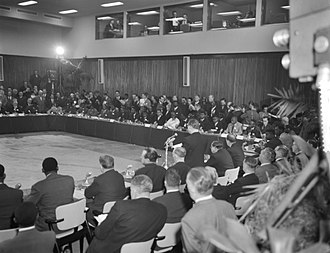 Belgo-Congolese Round Table Conference - Opening meeting of the Belgo-Congolese Round Table Conference on 20 January 1960
