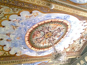 Mysore Palace - Roof artwork