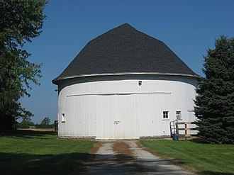 Rochester Township, Fulton County, Indiana - Don Smiley Round Barn, west of Rochester