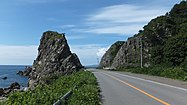 Japan National Route 101 along the Sea of Japan coastline