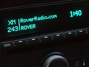 Extreme Talk - Car radio displays Program Service Data while set to Extreme Talk on XM