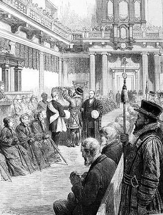 Royal Maundy - A Royal Maundy ceremony in 1877