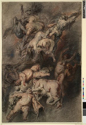 The Fall of the Damned - Study for The Fall of the Damned, c.1614-18