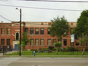 Prairie View Interscholastic League - Yates High School (Houston), former member of the PVIL, was located in this building in 1939. That year the principal of Yates met with the Prairie View A&M to discuss establishing an American football league for black schools