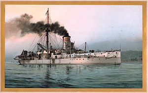 SMS Württemberg (1878) - Image: S.M. Linienschiff Württemberg
