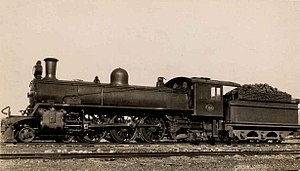 South African type YE1 tender - Image: SAR Class 5B 724 (4 6 2)