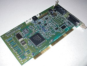 Creative Wave Blaster - Sound Blaster 16 with Wave Blaster header (top left)